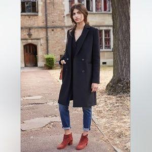 Sezane Parisian Wool Blend Coat Small